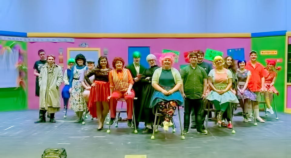 Photo of Pre-show Photo of the cast and crew of Sideways Stories